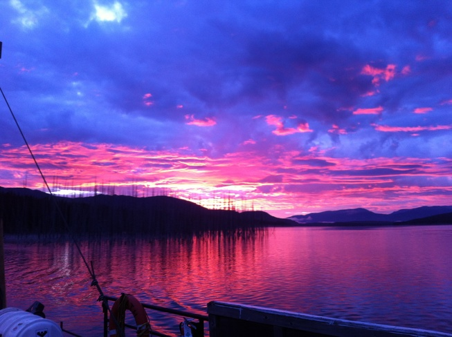 tahtsa reach in the morning Houston, British Columbia Canada