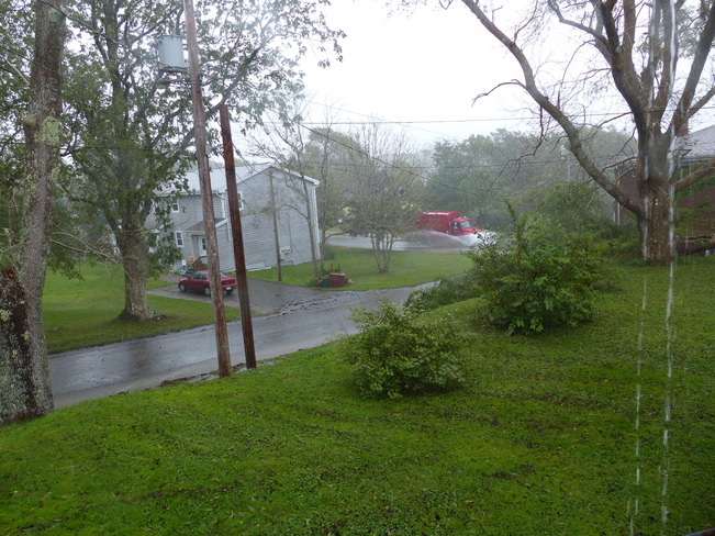 Heavy rain from Gabrielle Shelburne, Nova Scotia Canada