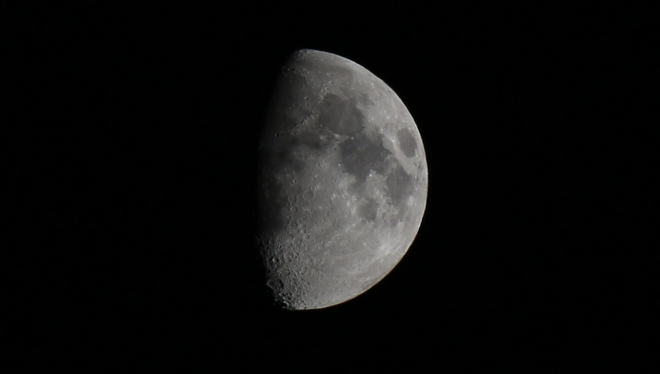 Friday the 13th Moon: 66% full Prince George, British Columbia Canada