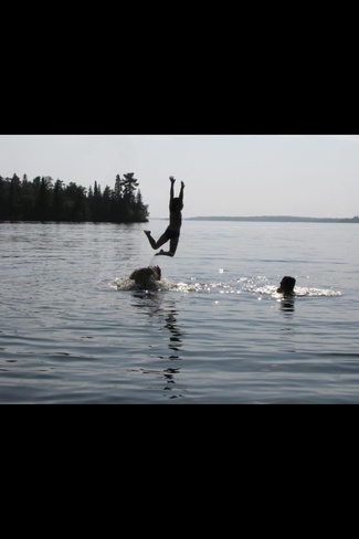 Fun day at Scotty's Beach Kenora, Ontario Canada