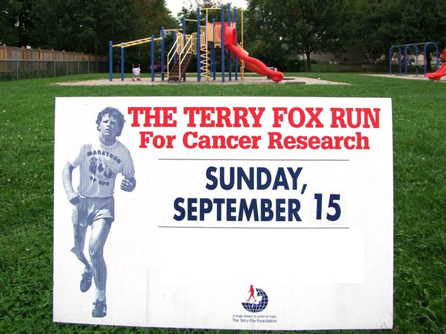 Annual Terry Fox run is tommorrow... Simcoe, Ontario Canada