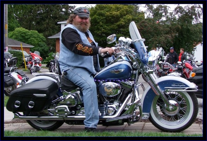 Big Bill and his awesome bike Port Dover, Ontario Canada