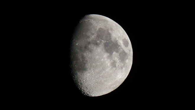 September Moon - 77% full. Prince George, British Columbia Canada