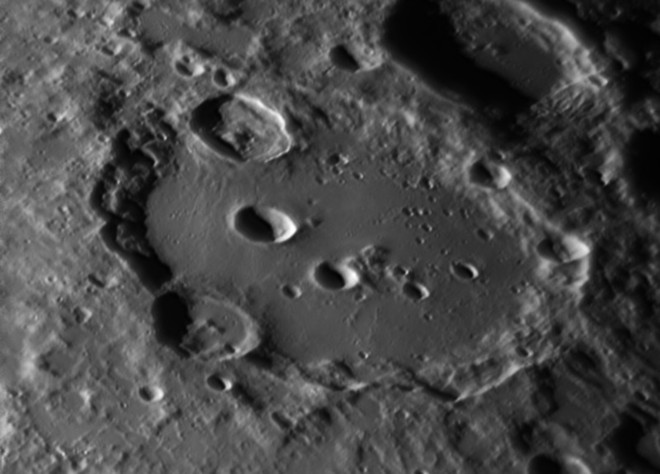 Clavius one of the largest Lunar craters Mississauga, Ontario Canada