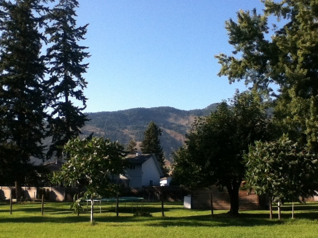 calm summer afternoon South Vernon, British Columbia Canada