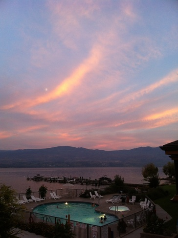 Evening Sky at Sunset West Kelowna, British Columbia Canada