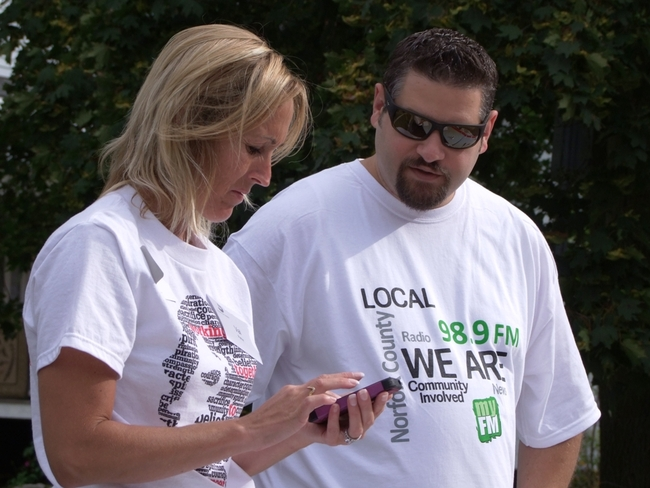 Sorting out the details for the annual Terry Fox Run Simcoe, Ontario Canada