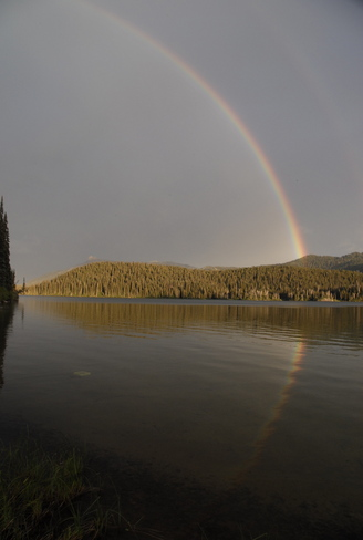 double rainbow Burns Lake, British Columbia Canada