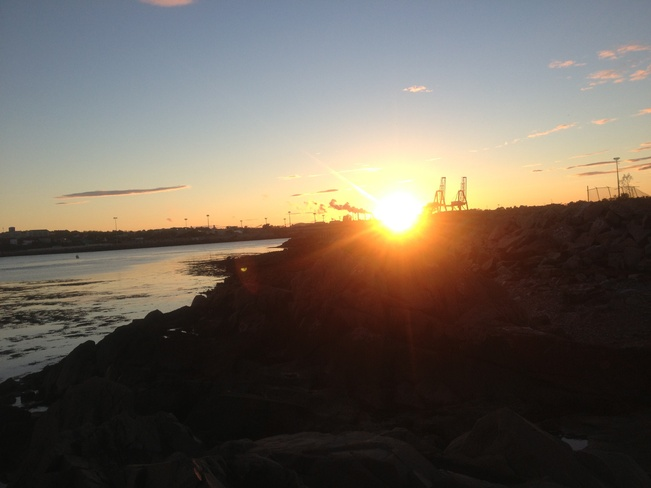 sun set Saint John, New Brunswick Canada