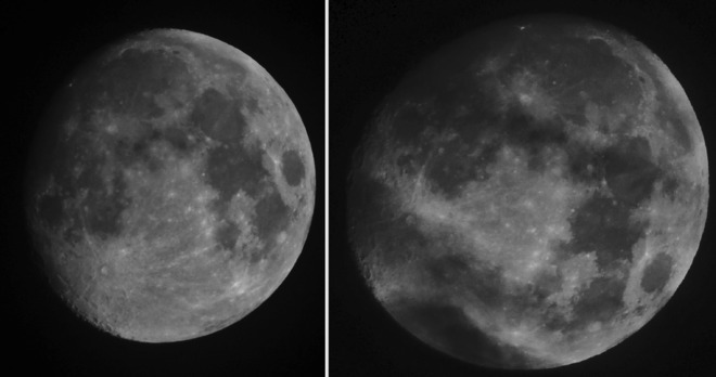 Two Moon pictures. St. John's, Newfoundland and Labrador Canada