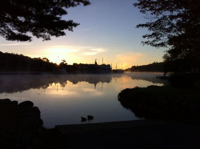 Sunrise on the LaHave Bridgewater, Nova Scotia Canada