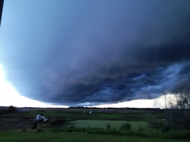 ominous cloud Prince Albert No. 461, Saskatchewan Canada