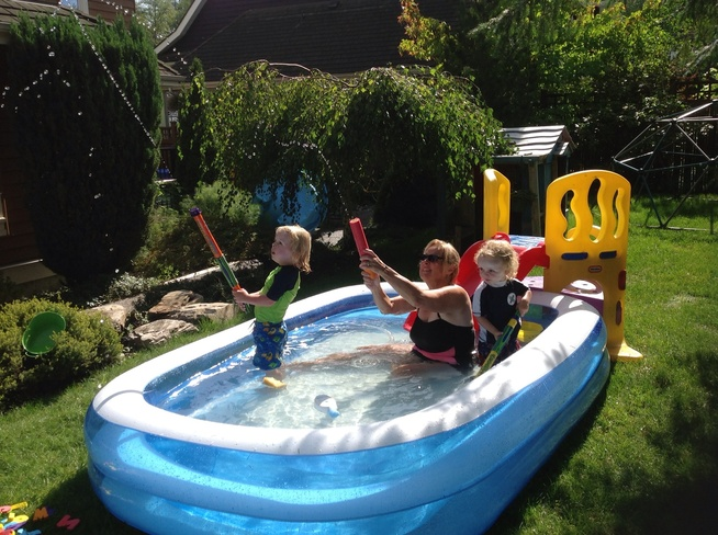 Water fun on a Sept. afternoon! Surrey, British Columbia Canada