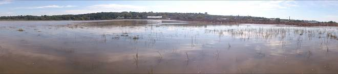 180 Degrees of Wolfville Harbour at High Tide. Highest tides in the World. Wolfville, Nova Scotia Canada
