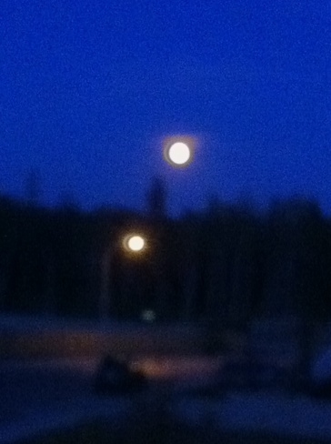 moon Fort McMurray, Alberta Canada