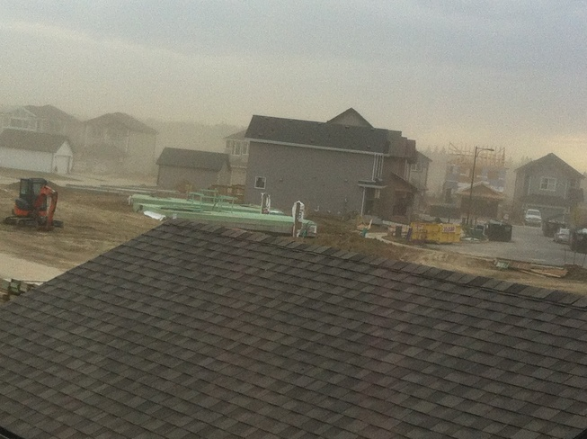 Dust Storm South Edmonton Nisku, Alberta Canada