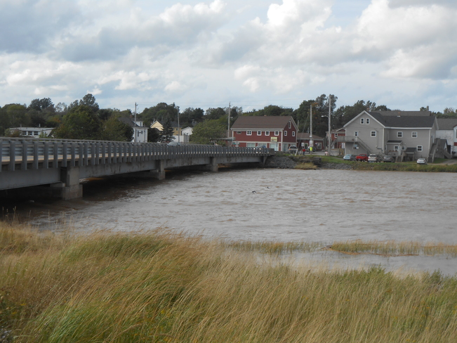 crazy high tide Canning, Nova Scotia Canada