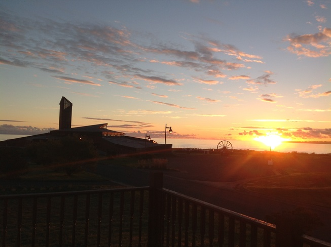 As the sun rises over the Miners Museum... Glace Bay, Nova Scotia Canada