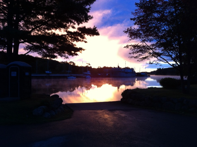 This morning on the LaHave Bridgewater, Nova Scotia Canada