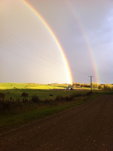 end of the rainbow Drayton Valley, Alberta Canada