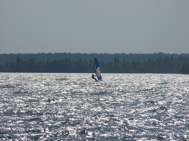 Windsurfing in September Dryden, Ontario Canada