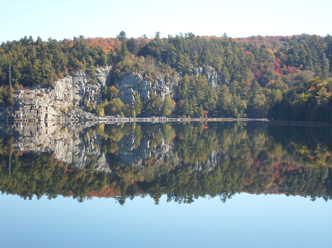 Reflections of Lake Horne in Elliot Lake Elliot Lake, Ontario Canada