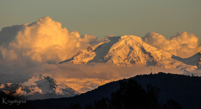 Mt Baker from Mission Mission, British Columbia Canada