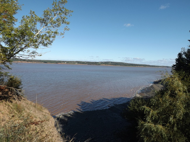 mouth of the avon river Avonport, Nova Scotia Canada
