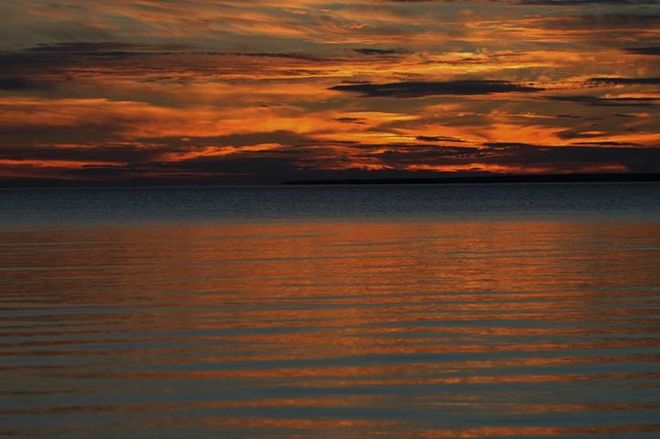 Lake Superior Sunset Sault Ste. Marie, Ontario Canada