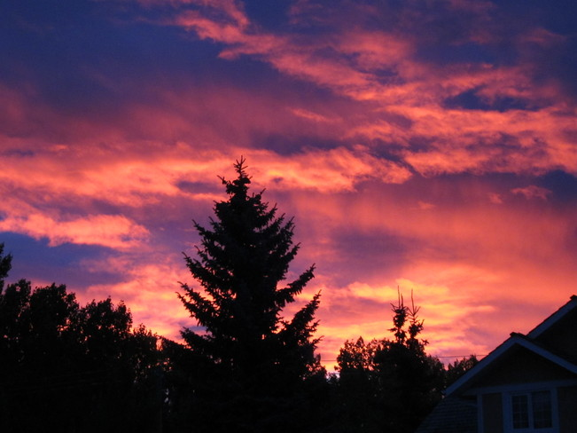 """Red Skies in the Morning..."" Calgary, Alberta Canada"