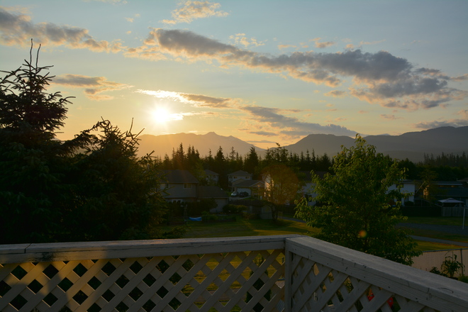Sunrise over Mt. Elizabeth Kitimat, British Columbia Canada