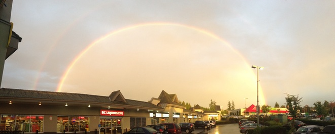 double rainbow Langley, British Columbia Canada