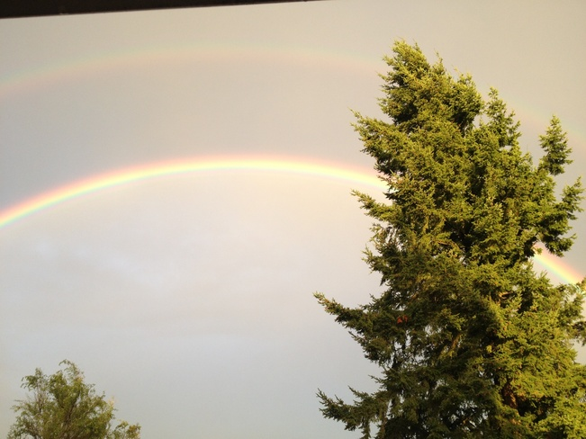 twin rainbows Surrey, British Columbia Canada