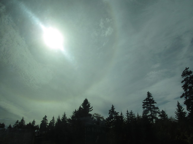 Looked like an almost whole circle rainbow Moncton, New Brunswick Canada