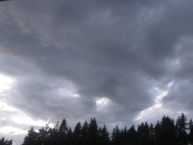 heavy clouds Surrey, British Columbia Canada