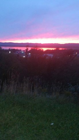 beautiful sunset Deer Lake, Newfoundland and Labrador Canada