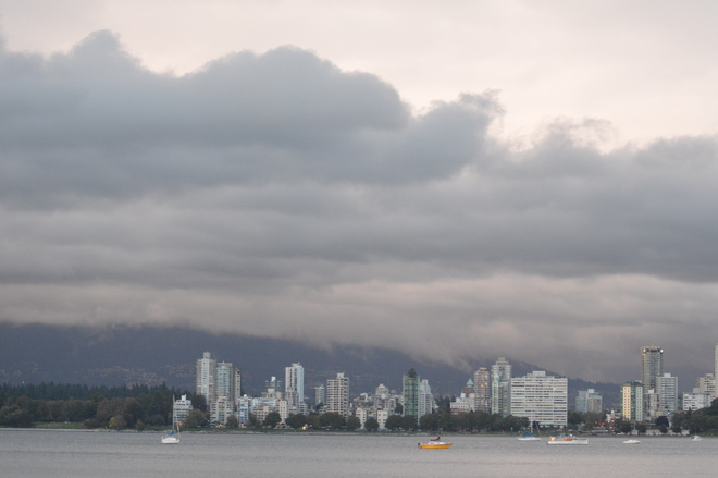 Dark Clouds And Mist Vancouver, British Columbia Canada