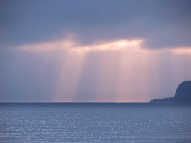 sun drawing water! Conception Bay South, Newfoundland and Labrador Canada