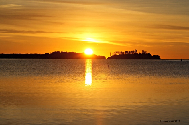 sunrise Mahone Bay, Nova Scotia Canada