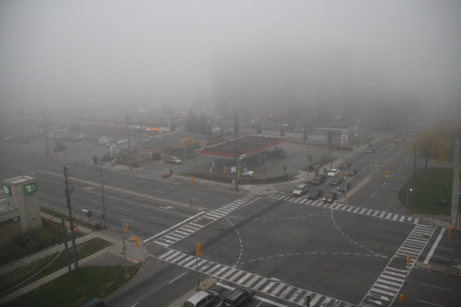 foggy afternoon Scarborough, Ontario Canada