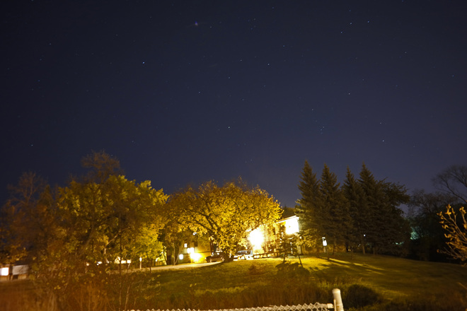 Stars above the hill,