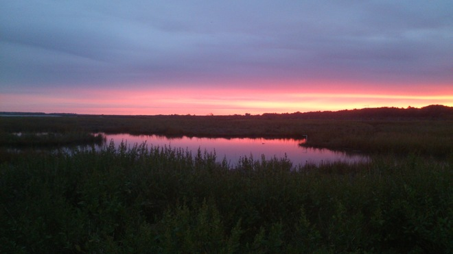 Pre Dawn outlook at Wolfville Dyke Wolfville, Nova Scotia Canada