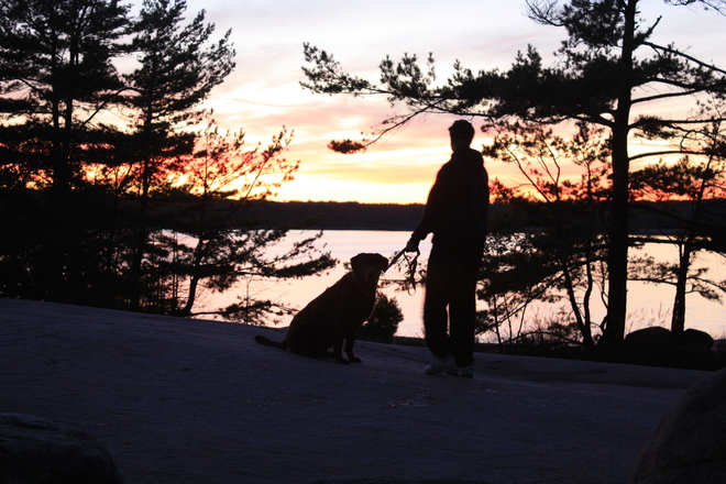 sunset Parry Sound, Ontario Canada