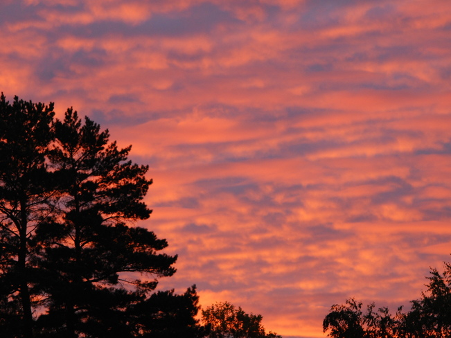 Pink Sunrise Clouds Brandon, Manitoba Canada