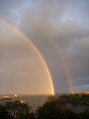 Double Rainbow Port Credit, Ontario Canada