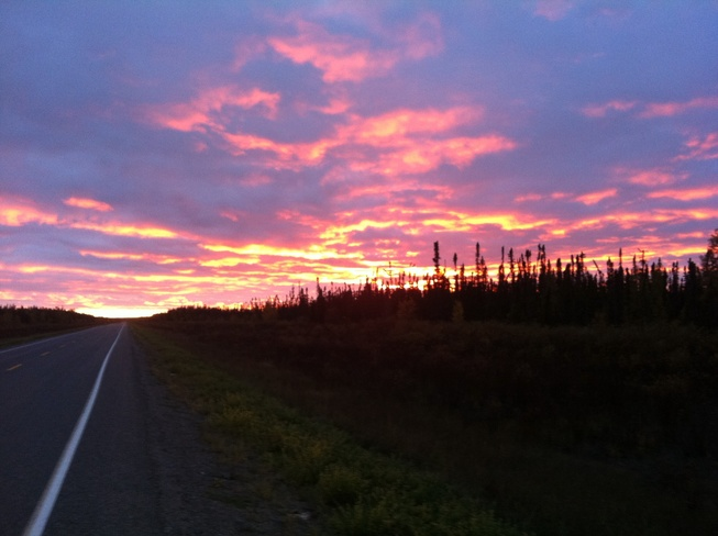 Red sky at night! Wabowden, Manitoba Canada