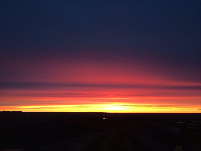 morning Grande Prairie County No. 1, Alberta Canada