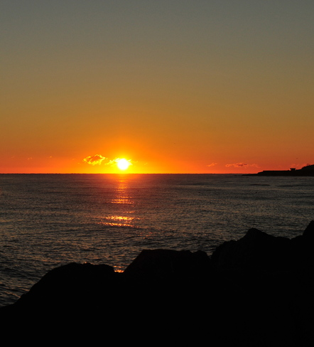 The sunrise. Cap-Pele, New Brunswick Canada