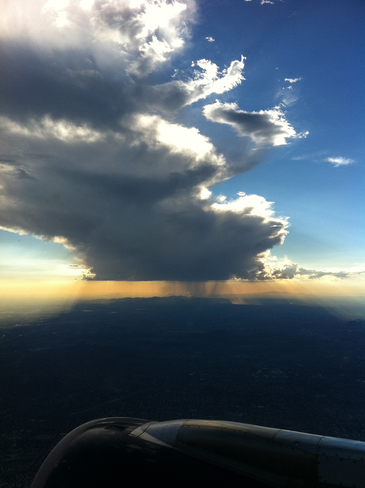 Late afternoon storm from the air Phoenix, Arizona United States