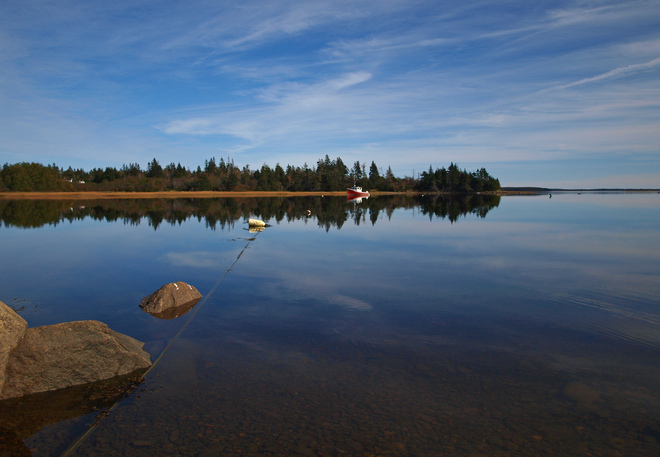 tranquil afternoon Wedgeport, Nova Scotia Canada